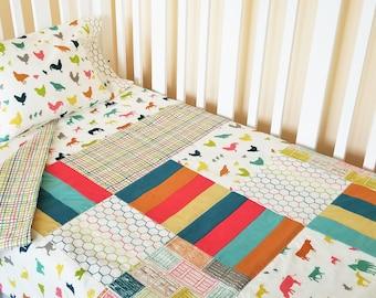 Organic Crib Bedding Set, Organic Baby Bedding Set, Organic Toddler Bedding Set, Farm Fresh, Farm Animals, Neutral, Baby Bedding, Crib Sets