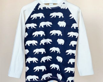 Organic Boys Shirt, Organic Toddler Shirt, Unisex Shirt, Polar Bear Shirt