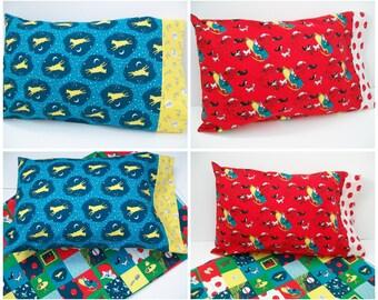 Good Night Moon, Organic Toddler Pillowcase, Travel Pillowcase, Pillow Case, Toddler Bedding, Organic, Cows, Mice, Kittens, Children's Books