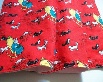 Good Night Moon, Organic Baby Blanket, Neutral, Organic Receiving Blanket, Animal, Organic Stroller Blanket, Flannel, Red, Blue, Kitties