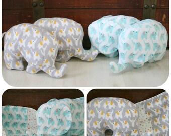 Elephant Baby Blanket, Organic, Baby Blanket Elephant, Stuffed Elephants, Baby Gift, Stuffed Animals, Receiving Blanket, Ready to Ship