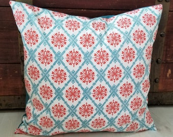 Gifts For Her, Gift for Best Friend, Organic Throw Pillow Cover, Sofa Pillow Cover, Gifts for Mom, Hearts, Flowers, Floral, 18 x 18