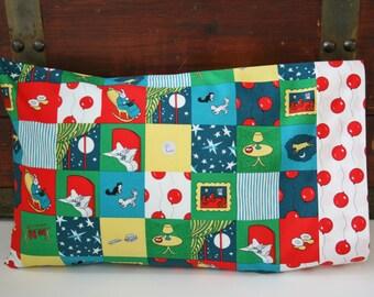 Ready to Ship, Organic Toddler Pillowcase, Organic Travel Pillowcase, Good Night Moon, Pillowcase, Toddler Bedding, Balloons, Mice, Organic