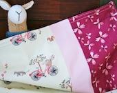 Organic Baby Blanket, Organic Receiving Blanket, Girl, Stroller Blanket, Bloom, Butterflies, Pink, Organic, Flannel, Baby Shower Gift