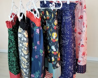Organic Skirts, Women's Skirts, Organic Cotton Skirts, Floral, Nautical, Horses, Jackalopes, Whimsical, Women's Clothing, Organic
