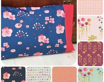 Organic Toddler Pillowcase, Organic Travel Pillowcase, Kids, Custom Pillowcase, Toddler Bedding, Toddler Girl, Floral, Gift for Her, Haiku