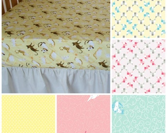 Organic Crib Sheet, Neutral, Boy, Girl, Kitties, Cats, Organic Toddler Sheet, Organic, Crib Bedding, Toddler Bedding, Yellow, Organic