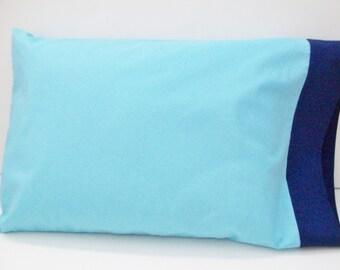 Organic Toddler Pillowcase, Organic Travel Pillowcase, Blue Pillowcase, Navy Blue Pillowcase, Organic Pillowcase, Pillowcase, Pillow Cases