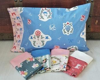 Organic Toddler Pillowcase, Girl, Organic Travel Pillowcase, Pirouette, Cats, Ballet, Ballerinas, Floral, Bows, Toddler Bedding