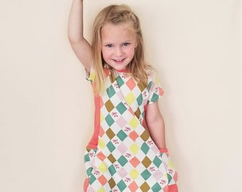 Girl's Clothing Organic, Toddler Dress, Girl's Dress Organic, Back to School, Ballet, Tunic, Cats, Ballerinas, Bows, Floral, Pirouette