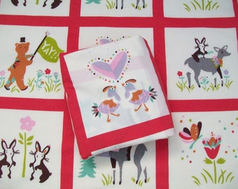 Organic Crib Sheet, Mini Co-Sleeper, Co-Sleeper, Pack n Play, Mini Crib, Fitted Crib Sheet, Animal Parade, Deer, Crib Bedding, Organic