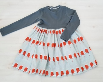 Organic Girl's Dress, Toddler Girl's Dress, Charley Harper Dress Organic