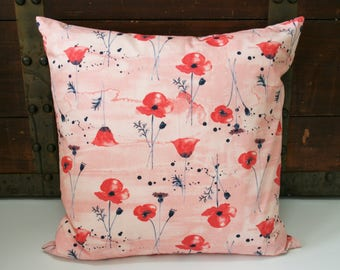 Gifts For Her, Floral Throw Pillow Cover, Organic Throw Pillow Covers, Decorative Pillow Cover, Sofa Pillow Cover, Floral, Gifts for Mom