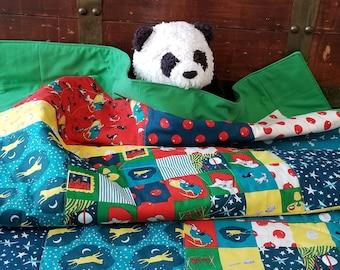 Good Night Moon, Organic Baby Quilt, Toddler Quilt, Handmade, Modern Quilt, Organic, Baby Blanket, Organic Baby Bedding, Gender Neutral