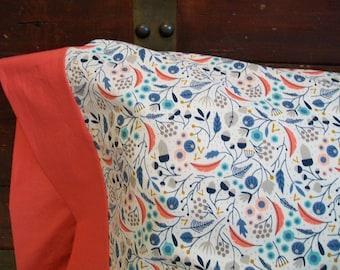 Organic Pillowcase, Organic Standard Pillowcase, Floral Pillowcase, Deco Delight, Floral,  Pillow Cases, Custom Pillowcase, Pillow Case