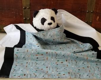 Organic Baby Blanket, Baby Boy, Organic Receiving Blanket, Handmade, Organic Stroller Blanket, Flannel, Wildland, Baby Gift, Arrows