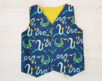 Boys Vest, Organic Children's Clothing, Organic Boys Clothing, Mommy and Me, Magical Creatures, Toddler Boy Clothing, Dragons, Cotton