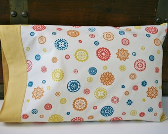 Organic Toddler Pillowcase, Organic Travel Pillowcase, Eco Pillowcase, Pillow Case, Good Morning Starshine, Gift for the Traveler