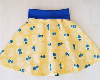 Girl's Skirt, Organic Todder Skirt, Girl, Skirts, Organic Girls Clothing, Floral, Skater Skirt, Whitehaven
