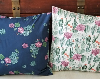 Organic, Throw Pillow Covers, 18 x 18, Throw Pillow Cover, Floral, Arrows, Skulls, Gifts for Her, Journey, Sofa Pillow Covers