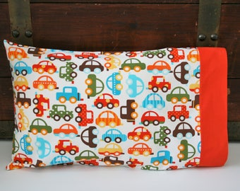Organic Toddler Pillowcase, Travel Pillowcase, Boy, Kids, Baby You Can Drive My Car, Pillow Case, Pillowcase, Car Pillowcase, Organic, Cars