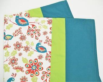 Organic Baby Blanket Girl, Organic Receiving Blanket Girl, Baby Blanket, Ready to Ship, Peacocks, Gift for Baby, Floral, Organic, Baby Girl