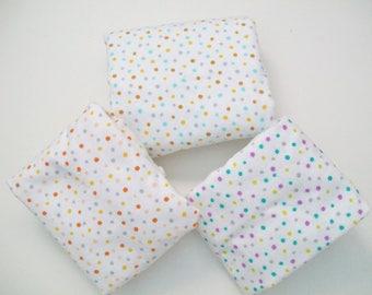 Organic Crib Sheet, Mini Co-Sleeper, Co-sleeper, Pack n' Play, Mini Crib, Fitted Crib Sheet, Confetti, Flannel, Polka Dot, Cotton Crib Sheet