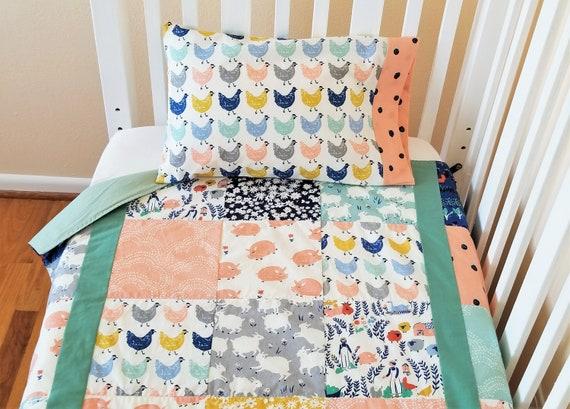 Organic Crib Bedding Set Girl Organic Baby Bedding Set Etsy