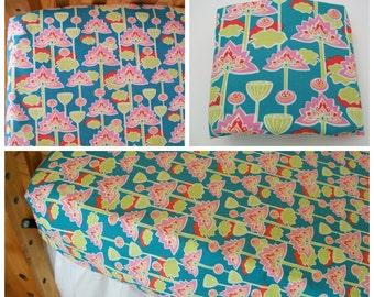 Organic Crib Sheet, Mini Co-Sleeper, Co-Sleeper, Pack n Play, Mini Crib, Fitted Crib Sheet, Organic, Lotus Blossom, Girl, Toddler Sheet