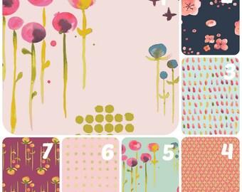 Organic Crib Sheet, Girl, Floral, Mini Co-Sleeper, Co-Sleeper, Pack n Play, Mini Crib, Fitted Crib Sheet, Organic Toddler Sheet, Haiku, Pink