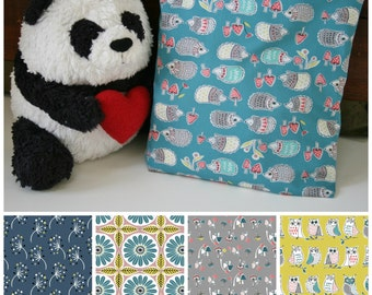 Organic Crib Sheet, Mini Co-Sleeper, Co-Sleeper, Pack n Play, Mini Crib, Fitted Crib Sheet, Anya, Hedgehogs, Teal, Organic, Owls, Toadstools