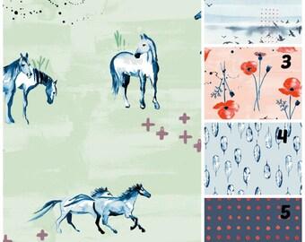 Organic Crib Sheet, Mini Co-Sleeper, Co-Sleeper, Pack n Play, Mini Crib, Horses, Neutral, Organic Toddler Sheet, Wanderlust, Floral, Birds