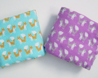 Organic Crib Sheet, Mini Co-Sleeper, Co-sleeper, Pack n' Play, Mini Crib, Flannel Crib Sheet, Foxes, Toddler Sheets, Fitted Crib Sheets