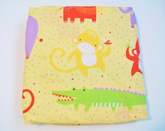 Organic Crib Sheet, Mini Co-Sleeper, Co-Sleeper, Pack n Play, Mini Crib, Fitted Crib Sheet: Safari Dreams, Elephants, Lions, Safari Crib