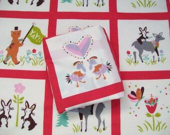 Organic Crib Sheet, Mini Co-Sleeper, Co-Sleeper, Pack n Play, Mini Crib, Fitted Crib Sheet, Animal Parade, Deer, Crib Bedding, Organic