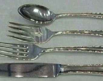 Silver Flutes by Towle Sterling Silver Cocktail Fork 5 34 New