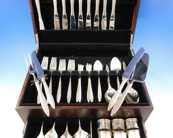 Beautiful Spanish Provincial By Towle Sterling Silver Flatware Set For 6 Service 24 Pieces Furniture Other Antique Furniture