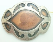 Arts And Crafts Heintz Sterling And Copper Pin ( j2520)