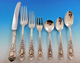 Pointed Antique by Reed /& Barton Dominick /& Haff Sterling Spaghetti Spoon Custom
