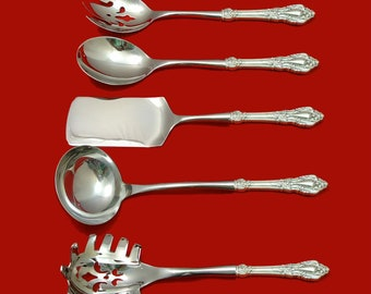 "Rose Point by Wallace Sterling Silver Soup Ladle 10 1//2/"" HHWS  Custom Made"