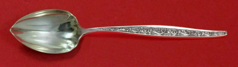 Renaissance Scroll by Reed and Barton Sterling Grapefruit Spoon Fluted Custom