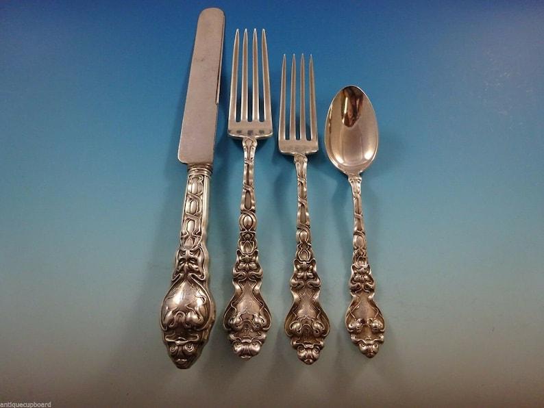 Douvaine par Unger Sterling Silver flatware Service Set 61 pièces art nouveau