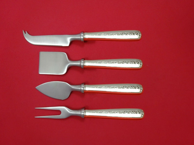 Rambler Rose by Towle Sterling Silver Cheese Serving Set 4 Piece HHWS  Custom