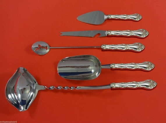 Rose Point by Wallace Sterling Silver Pastry Server Fancy Vermeil HH Custom