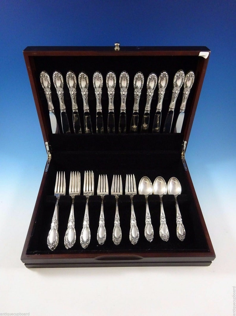 King Richard par Towle Sterling Silver flatware Set pour 12 service 48 pièces