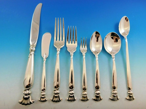 Grand Colonial by Wallace Sterling Silver Salad Serving Set 2pc HHWS Custom