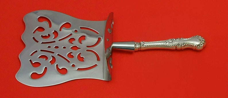 English Rose by Durgin Sterling Silver Asparagus Server Hooded Custom Made HHWS