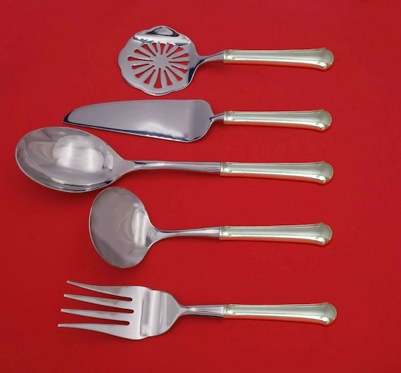 Sterling Rose by Wallace Sterling Silver Wedding Cake Set Server 2pc Custom HHWS