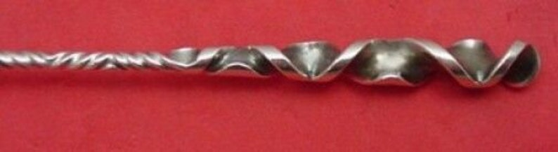 Reverse Twist #8 by Whiting Sterling Silver Sardine Fork 5-Tine 6 14
