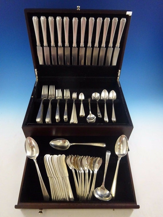 Violet by Wallace Sterling Silver Wedding Cake Set Server 2pc Custom Made HHWS